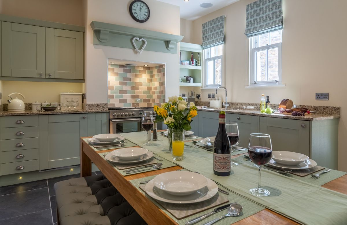 Ground floor: The fully equipped kitchen and dining room