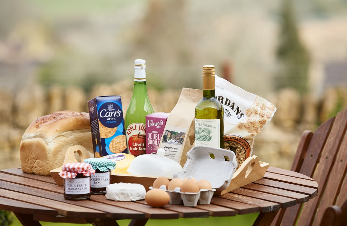 A welcoming hamper awaits your arrival