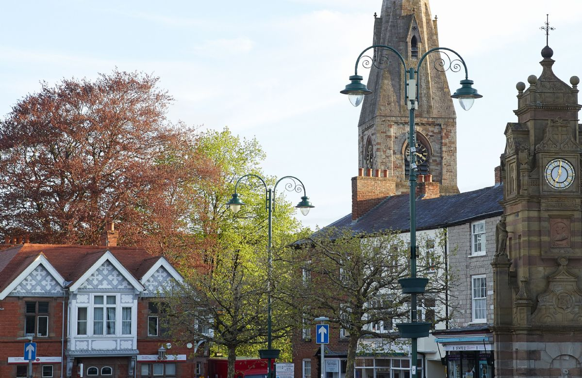 The rich history has shaped the architecture of Ruthin town and is all around you in the town square