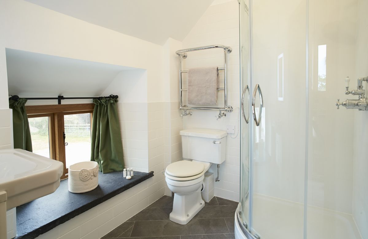 First floor: The Tudor bedroom en-suite shower room