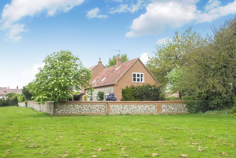 Field Cottage in Burnham Market | Outside from playing fields