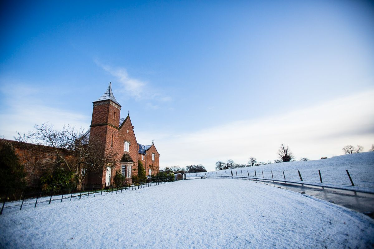 A beautiful wintery scene at Combermere Abbey