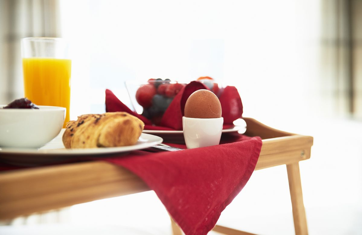 Have a leisurely start to the day with breakfast in bed