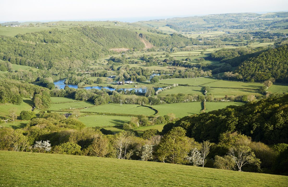 The stunning Welsh landscape of the Ystwyth Valley