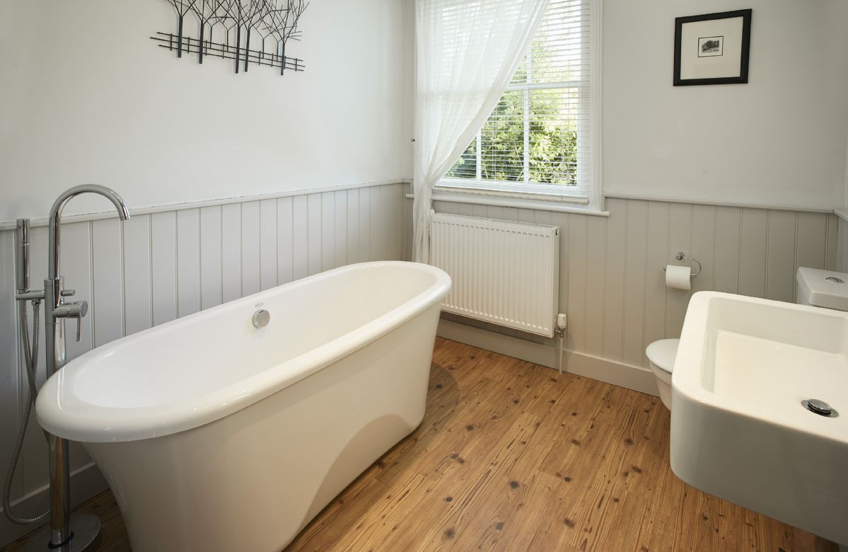 Ground floor:   Family bathroom with freestanding bath