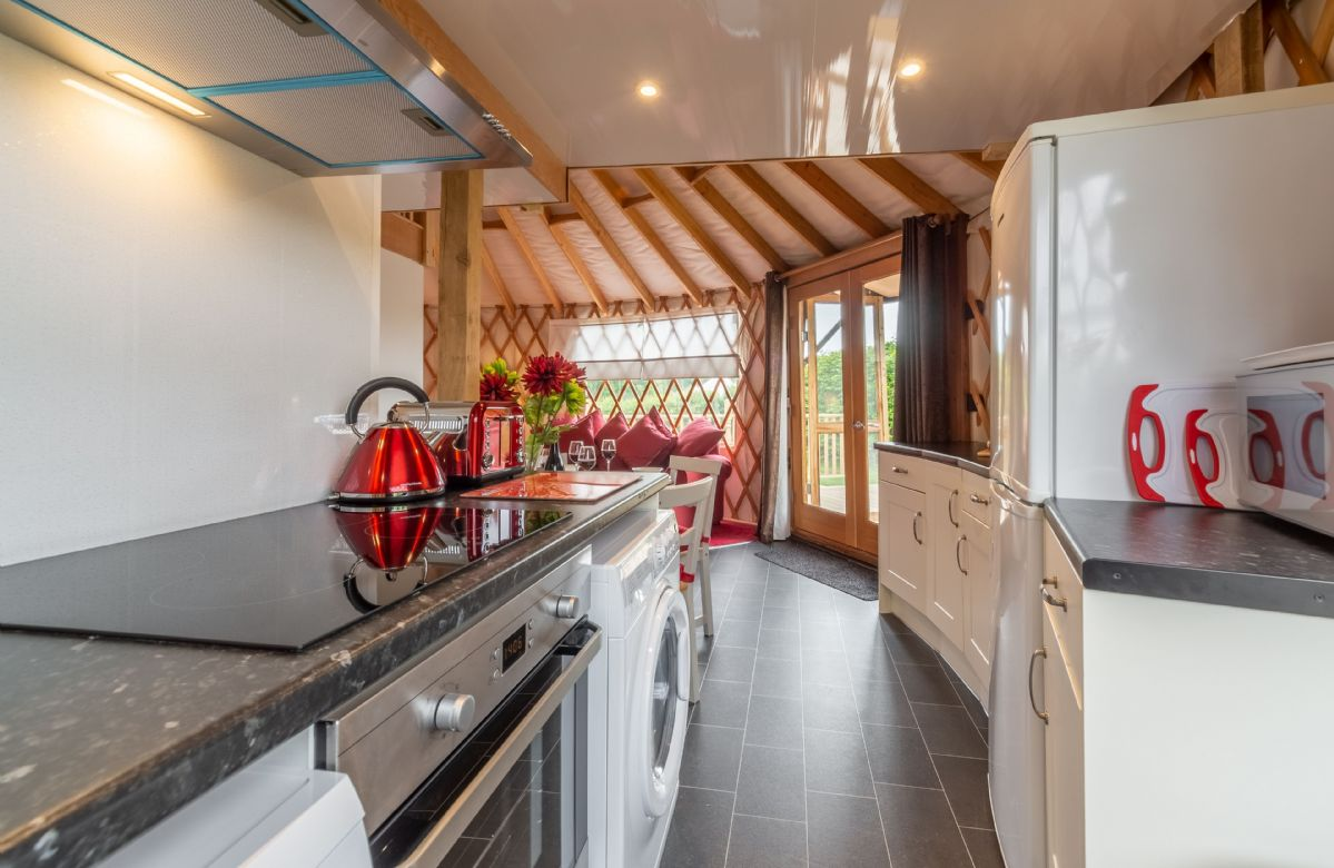 Ground floor: The modern and fully fitted kitchen area