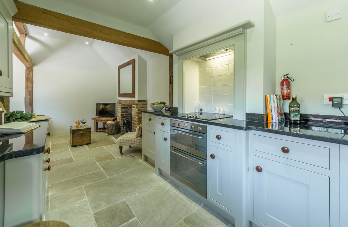 Ground floor: Luxury fully fitted kitchen with Indian limestone and underfloor heating