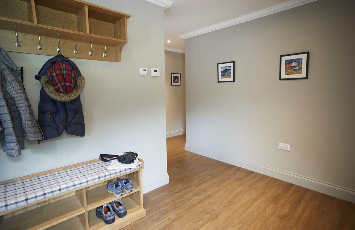 Ground floor: Hallway leading into the open plan living area