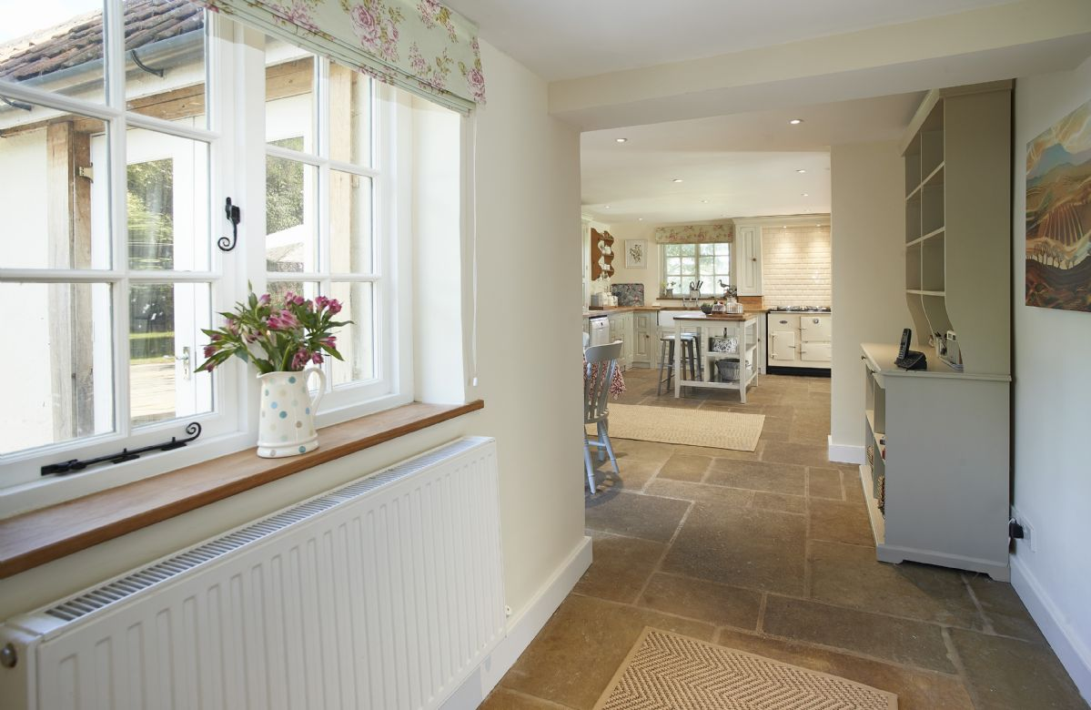 Ground floor: The light and airy open plan living area