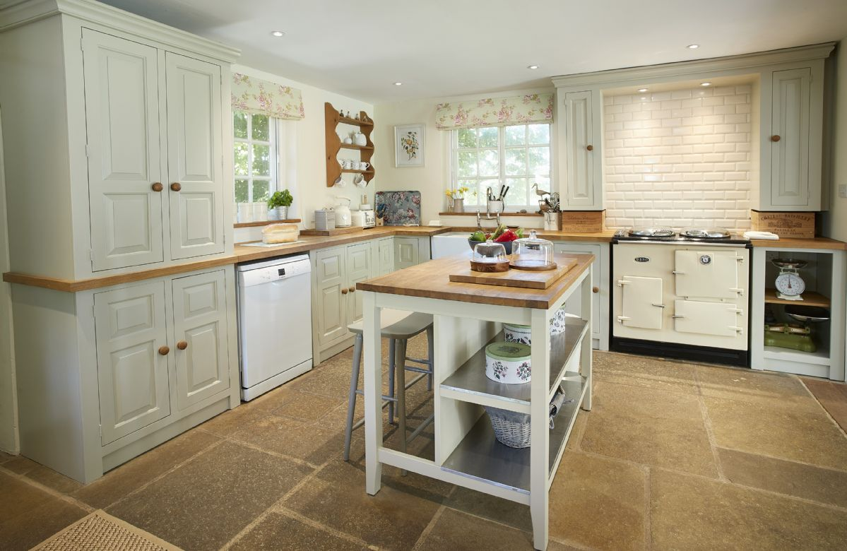 Ground floor: The fully fitted kitchen and breakfast room with french windows
