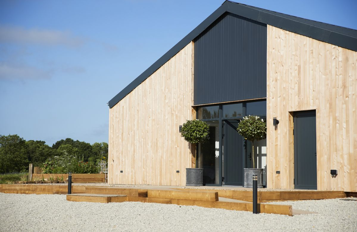 This contemporary barn conversion completed in 2019  has been finished to an incredible standard