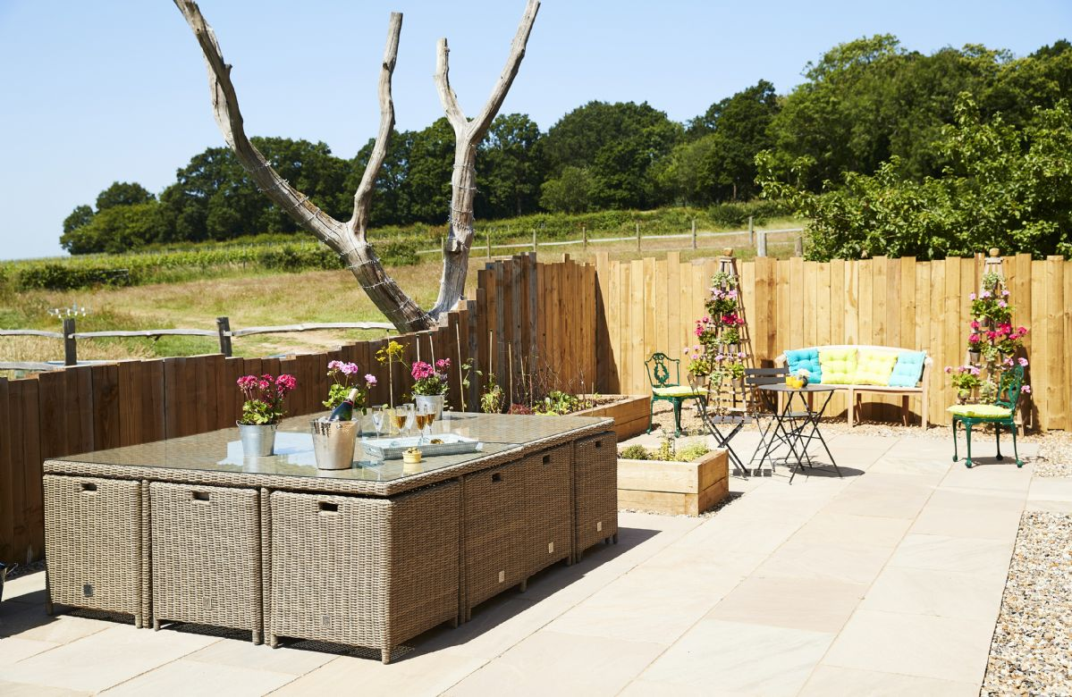 The terrace is ideal for summer barbecues and entertaining