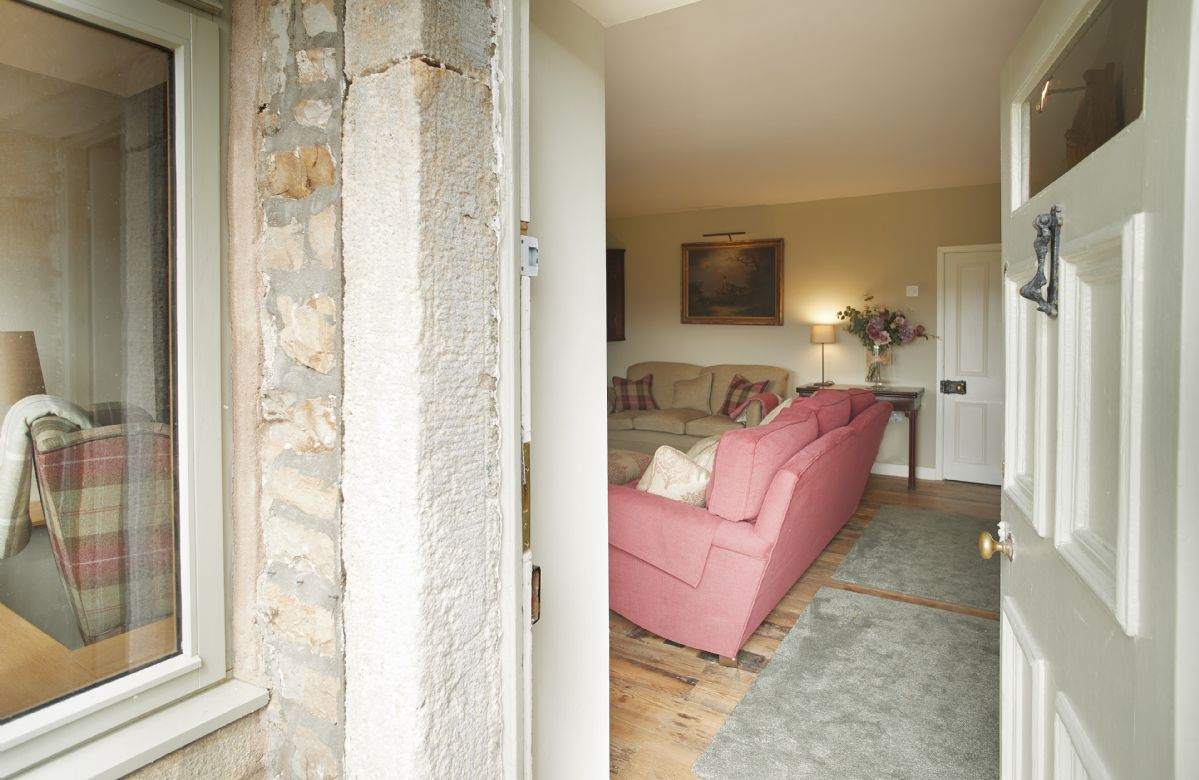 Ground floor: The entrance into Heatherdene and its cosy sitting room