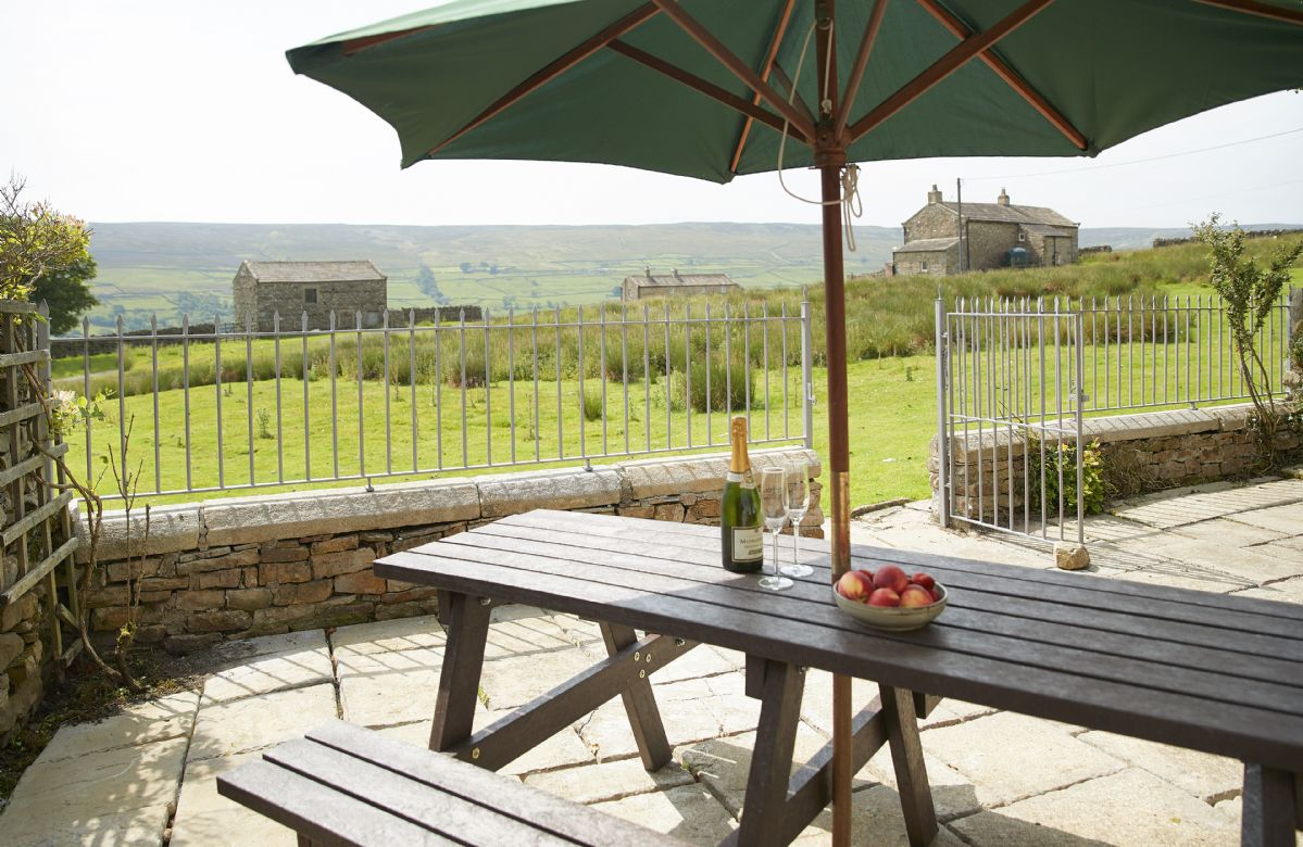From the south-facing terrace enjoy the stunning views and sound of curlew