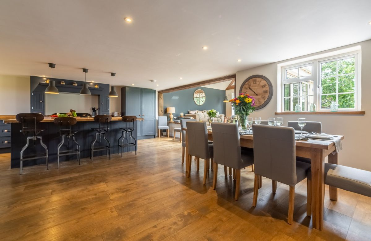 Ground floor: The large open plan dining room leading through to the stunning kitchen
