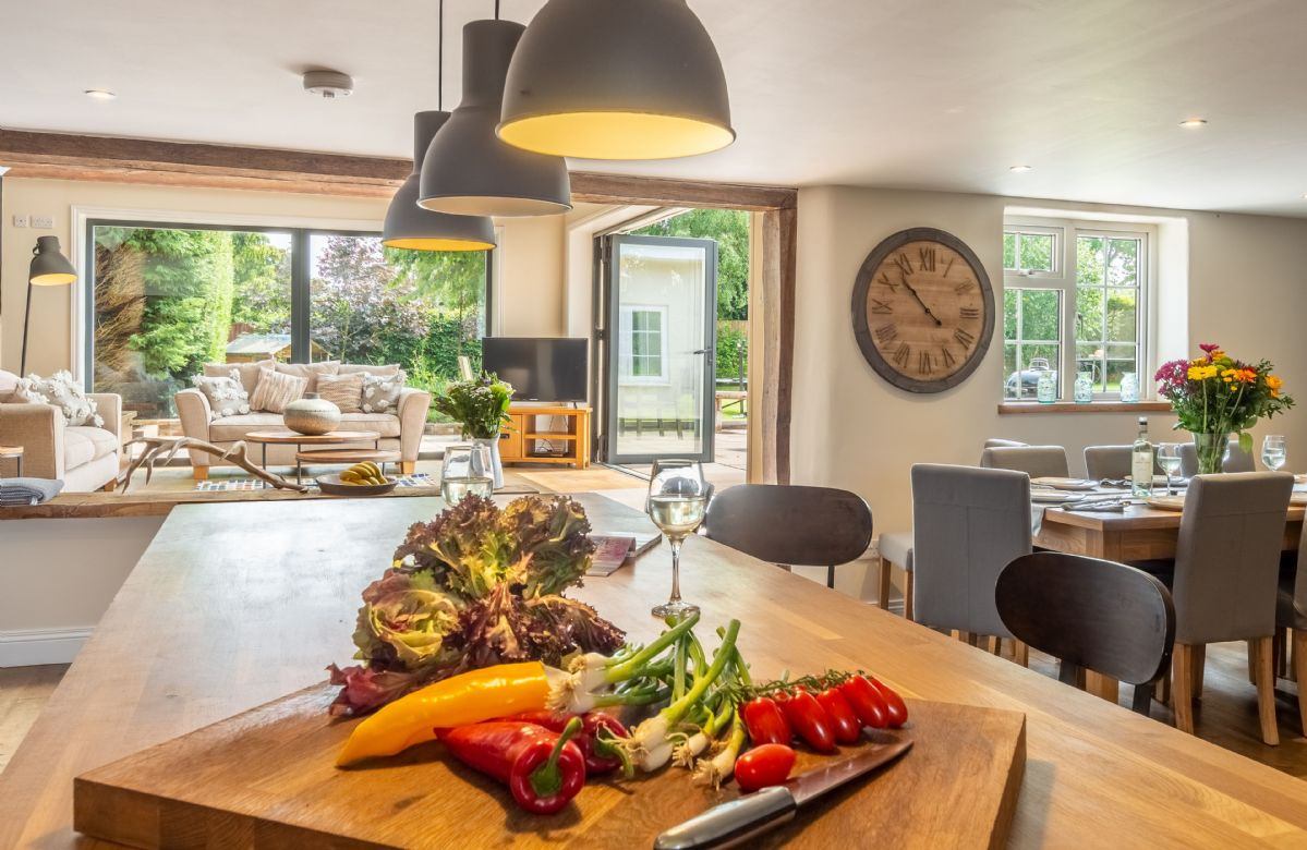 Ground floor: The fully equipped kitchen and large open plan dining room