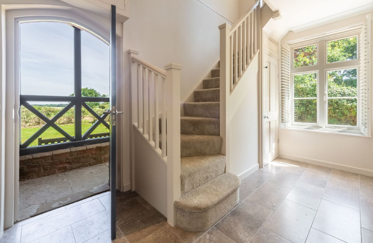 Ground floor: The light and airy hallway leading into the cottage