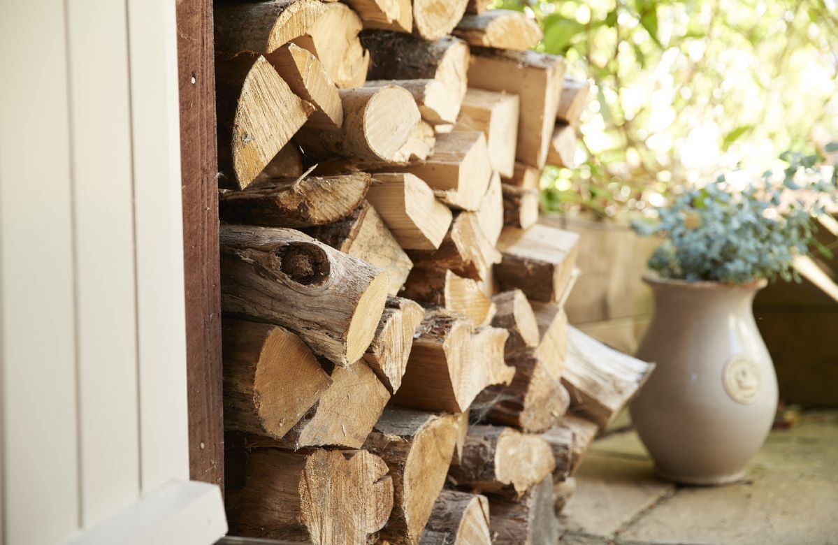 Logs are supplied for you at the barn