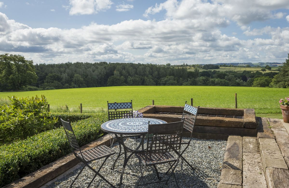 Seating area with stunning countryside views