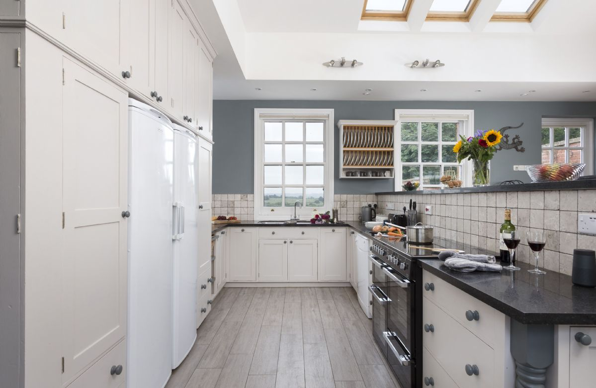 Ground floor: Large fully equipped kitchen with sky lights