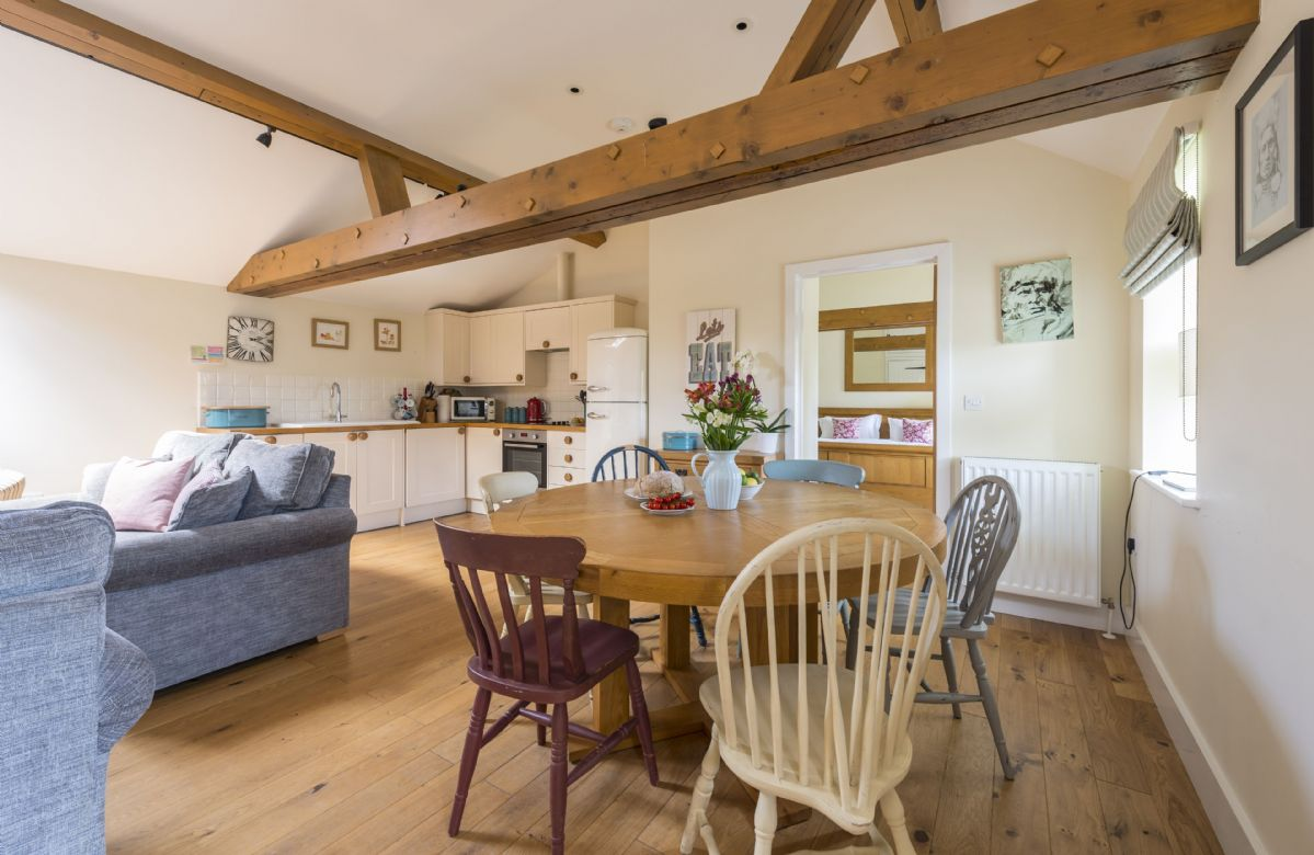 Ground floor:  Open-plan sitting, dining and kitchen area