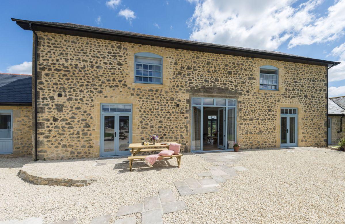 Drackenorth Lodge is an impressive barn conversion in West Dorset