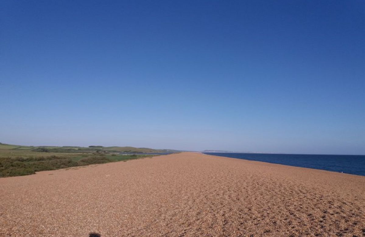 Chesil Beach is approximately 2 miles away