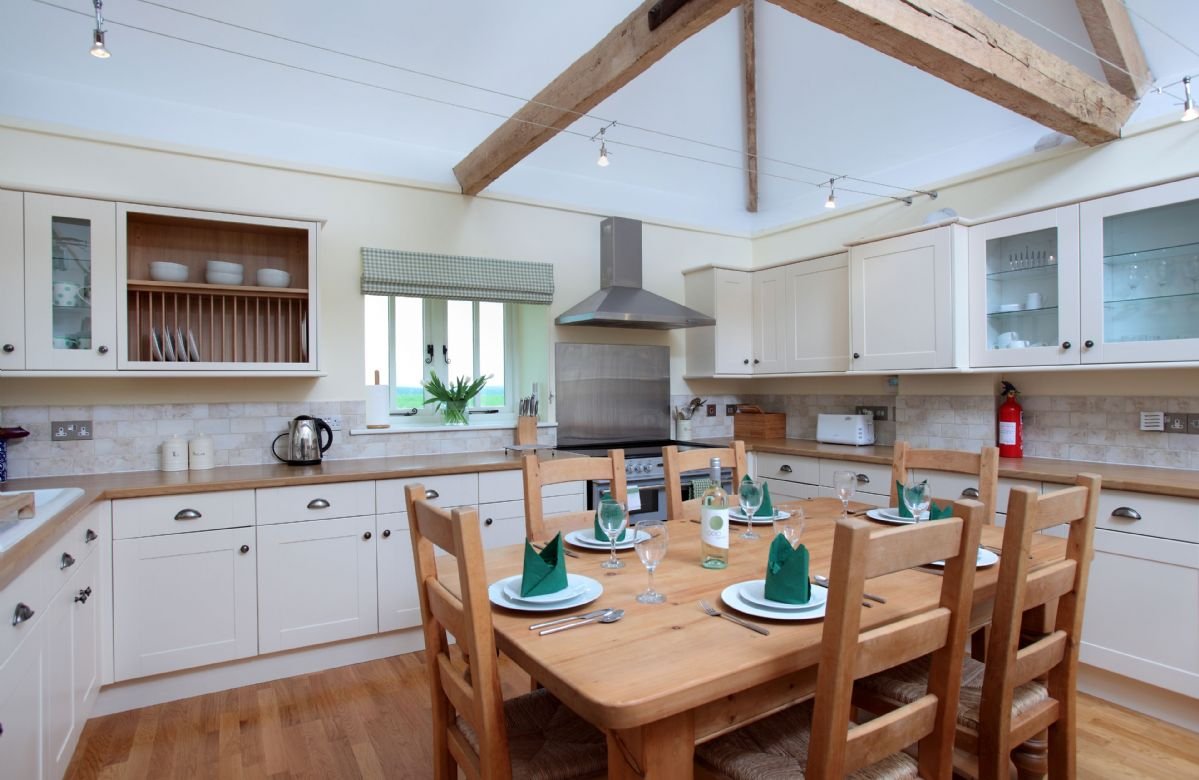 Ground floor: Open-plan sitting, dining and kitchen areas