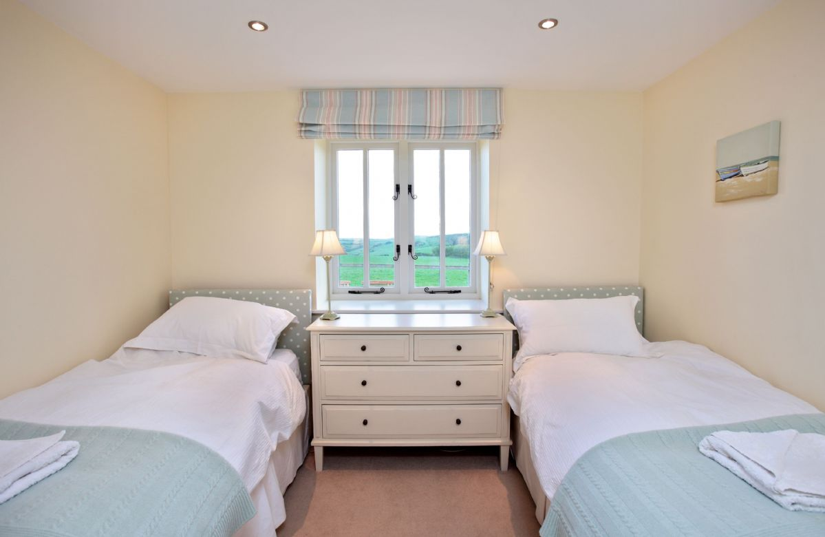 Ground floor: Bedroom two with twin beds