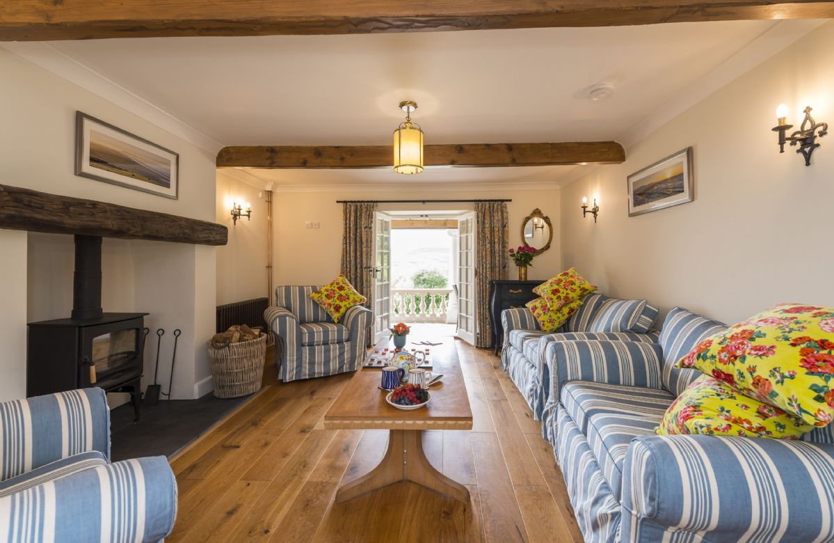 Ground floor: Sitting room with views across to the sea
