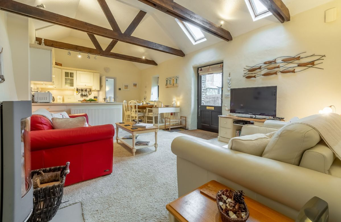 Ground floor: Open-plan sitting room and kitchen/dining area