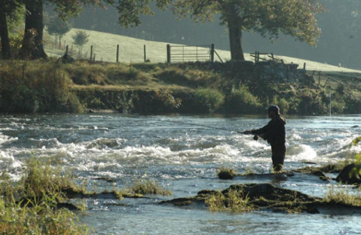 Fishing on the Middle Eden, image courtesy of Glyn Freeman