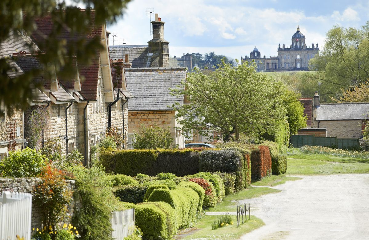 Quaint villages in the surrounding area with Castle Howard in the distance