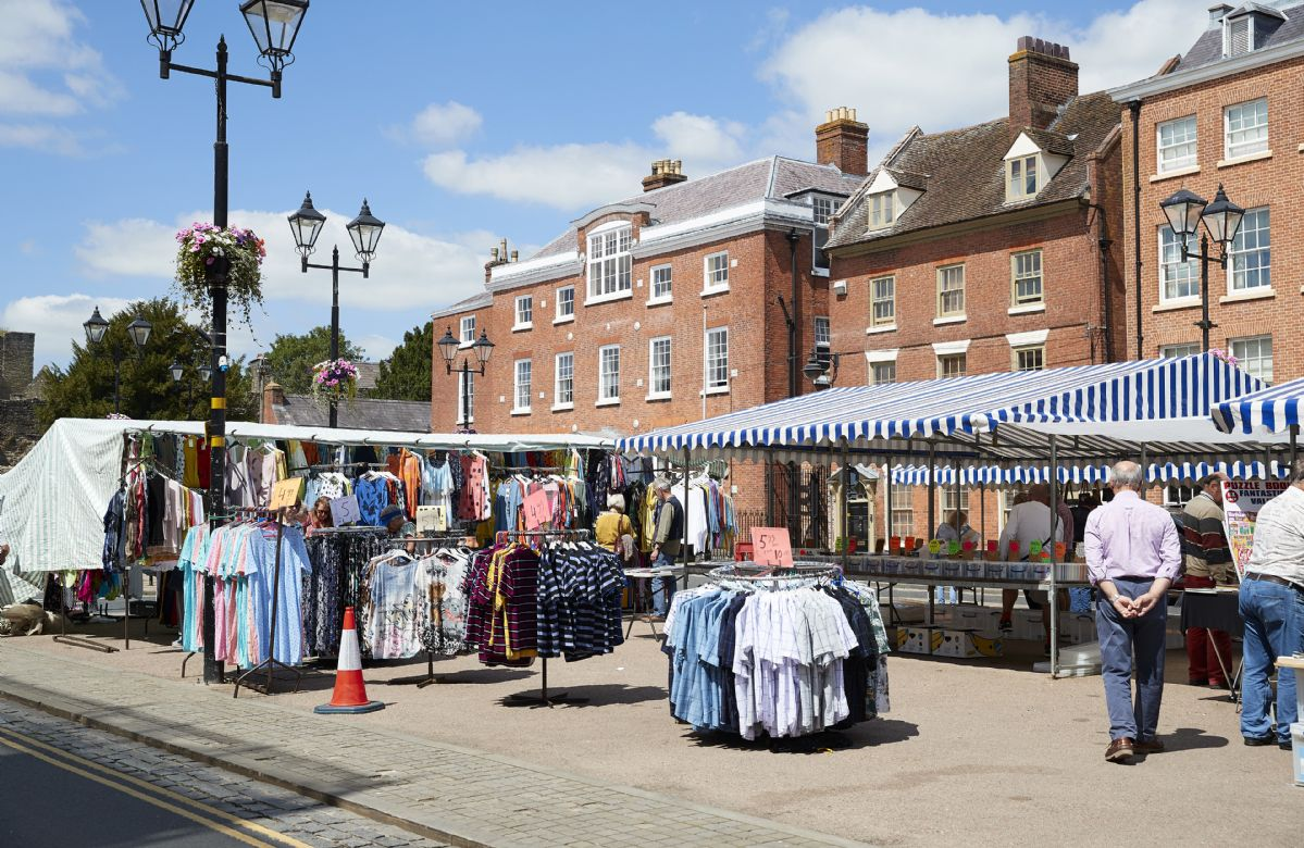 The market takes place at Castle Square in Ludlow and is the best place to find all your traditional local wares