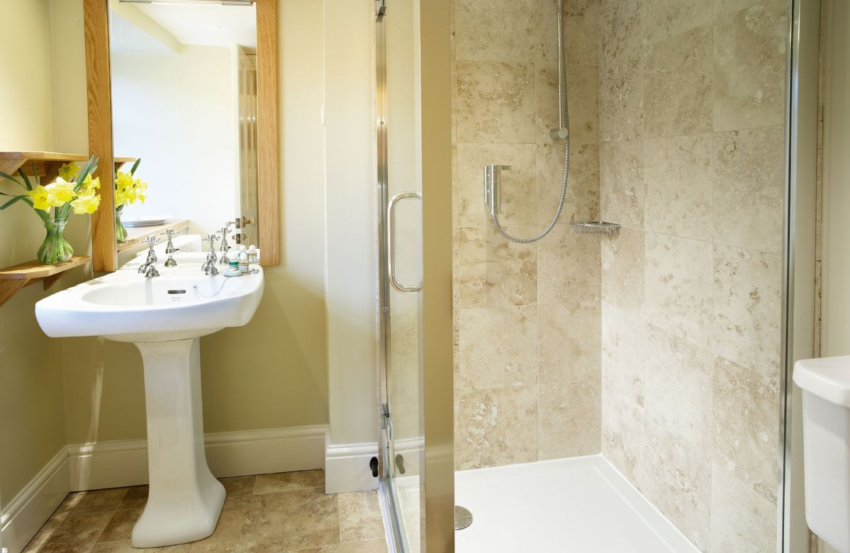 Second floor: The Edwardian bedroom en-suite shower room