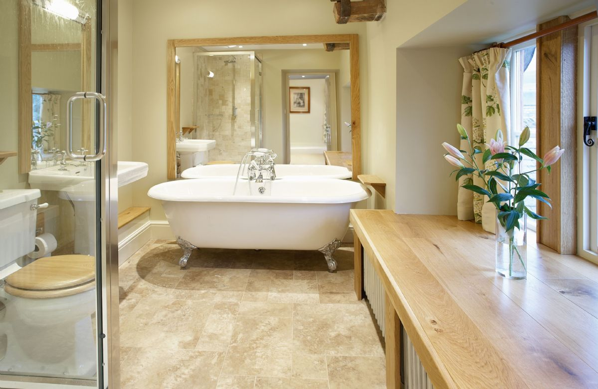 Second Floor: The Nursery en-suite bathroom with separate bath and shower