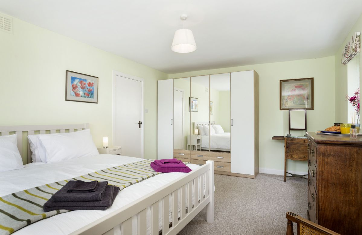First floor: Master bedroom with a super-king bed