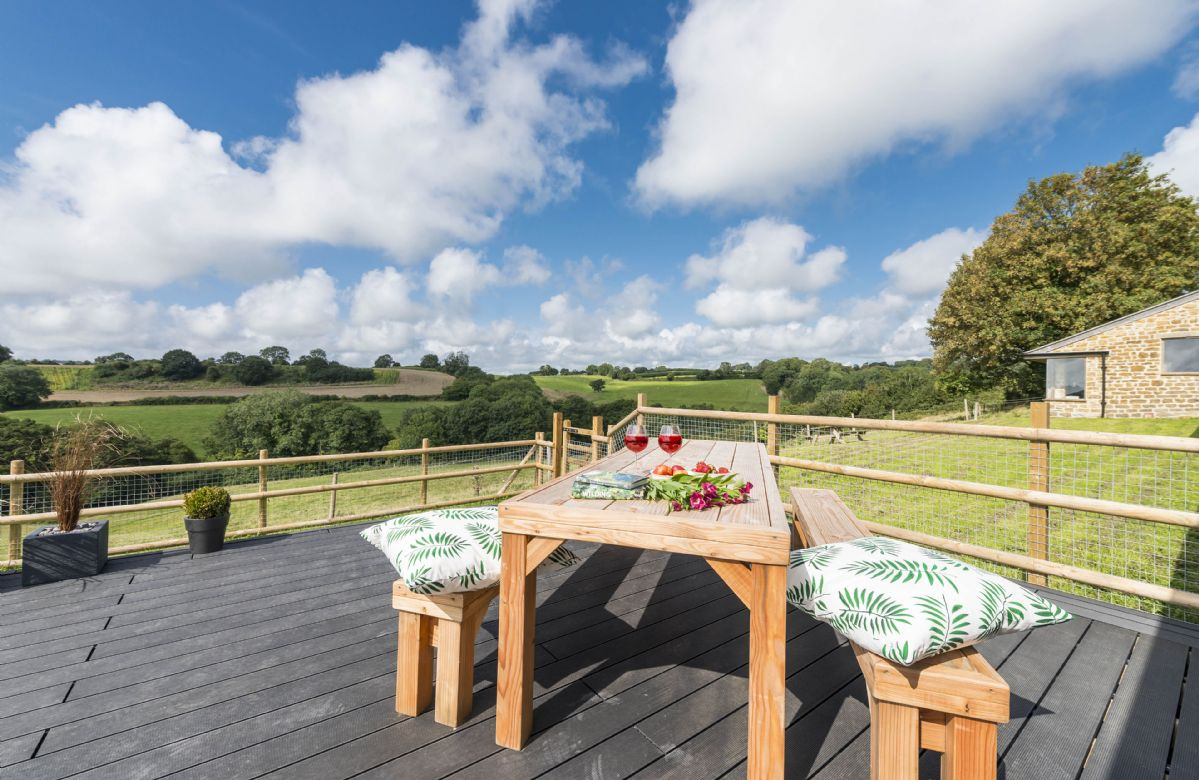 Outstanding views from the decked terrace
