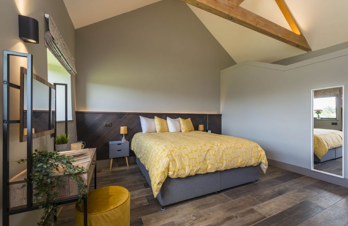 Upper ground floor: Bedroom two with zip and link which can be configured as a super-king or twin beds on request