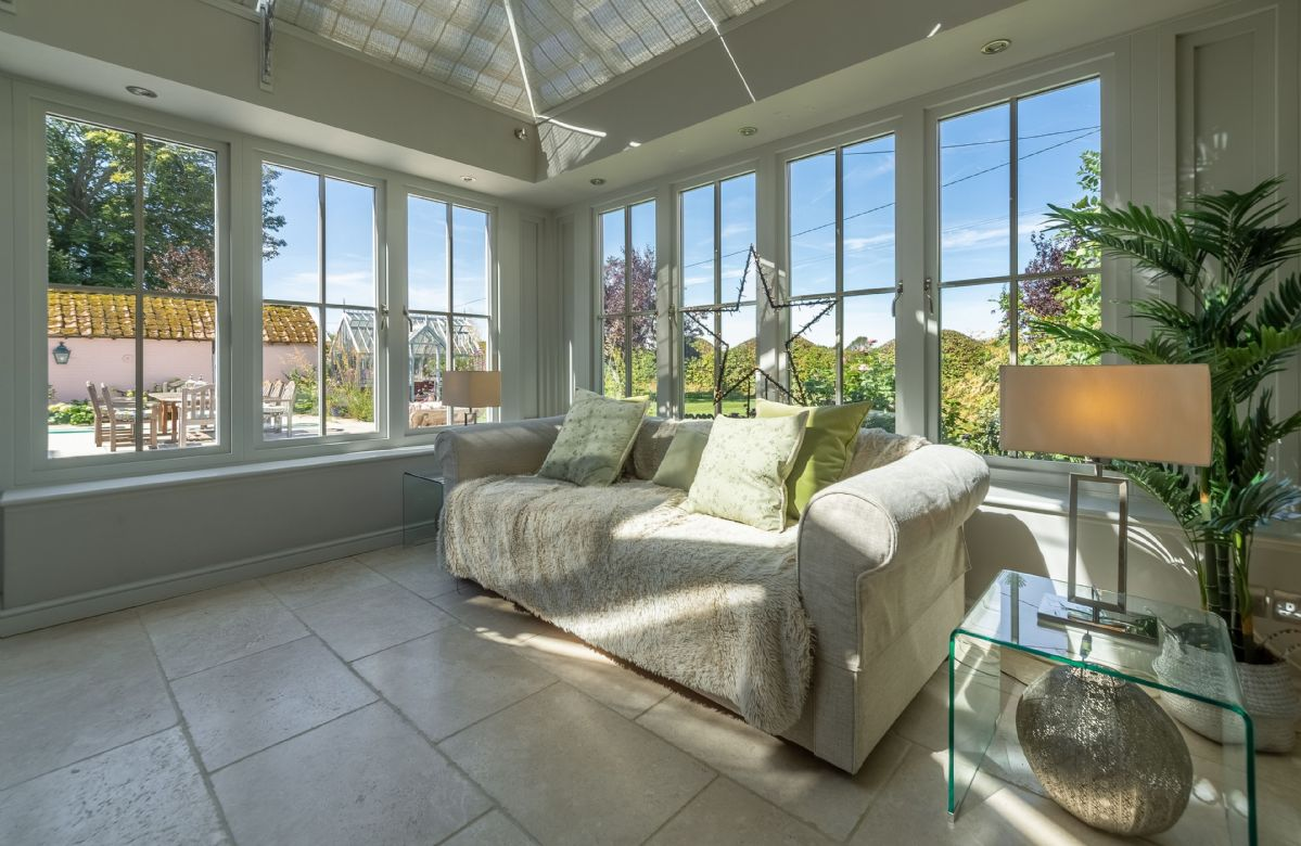 Ground floor: The orangery with French doors to the patio