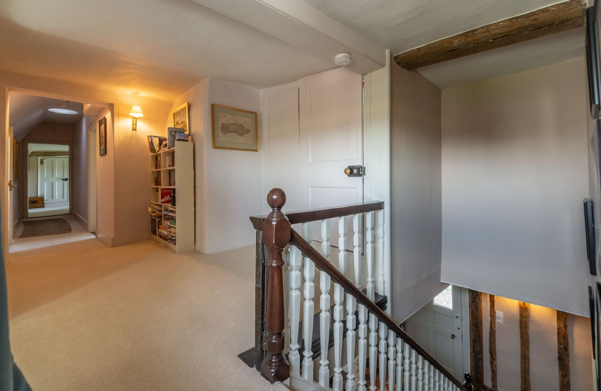 First floor: Hallway leading to master bedroom