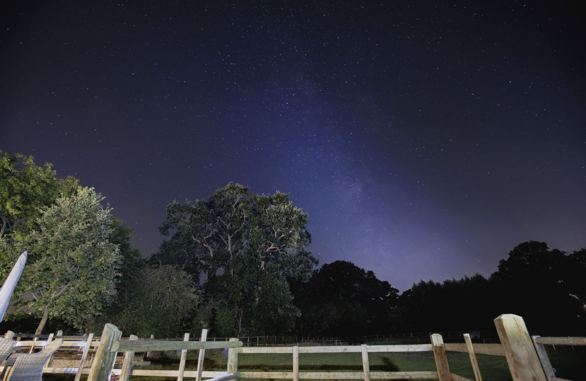 Gaze up at the stars and see if you can spot the milky way!