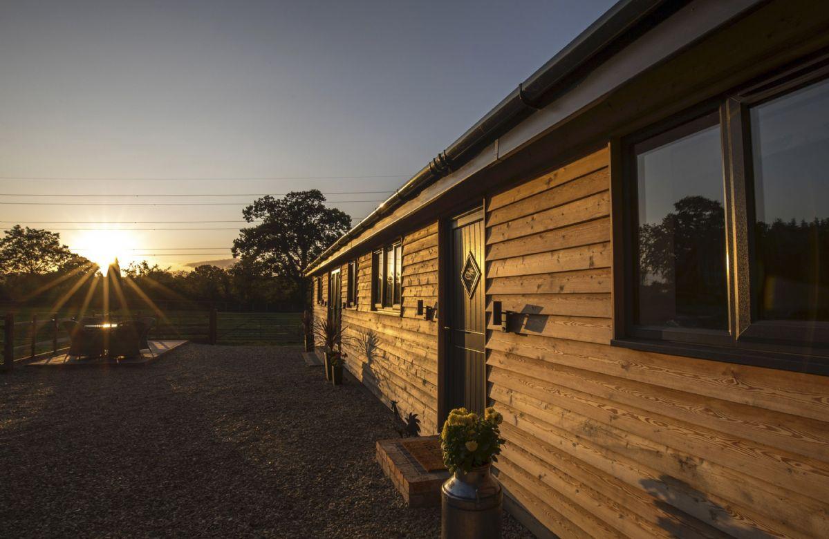 Sunset at Oak Tree Barn