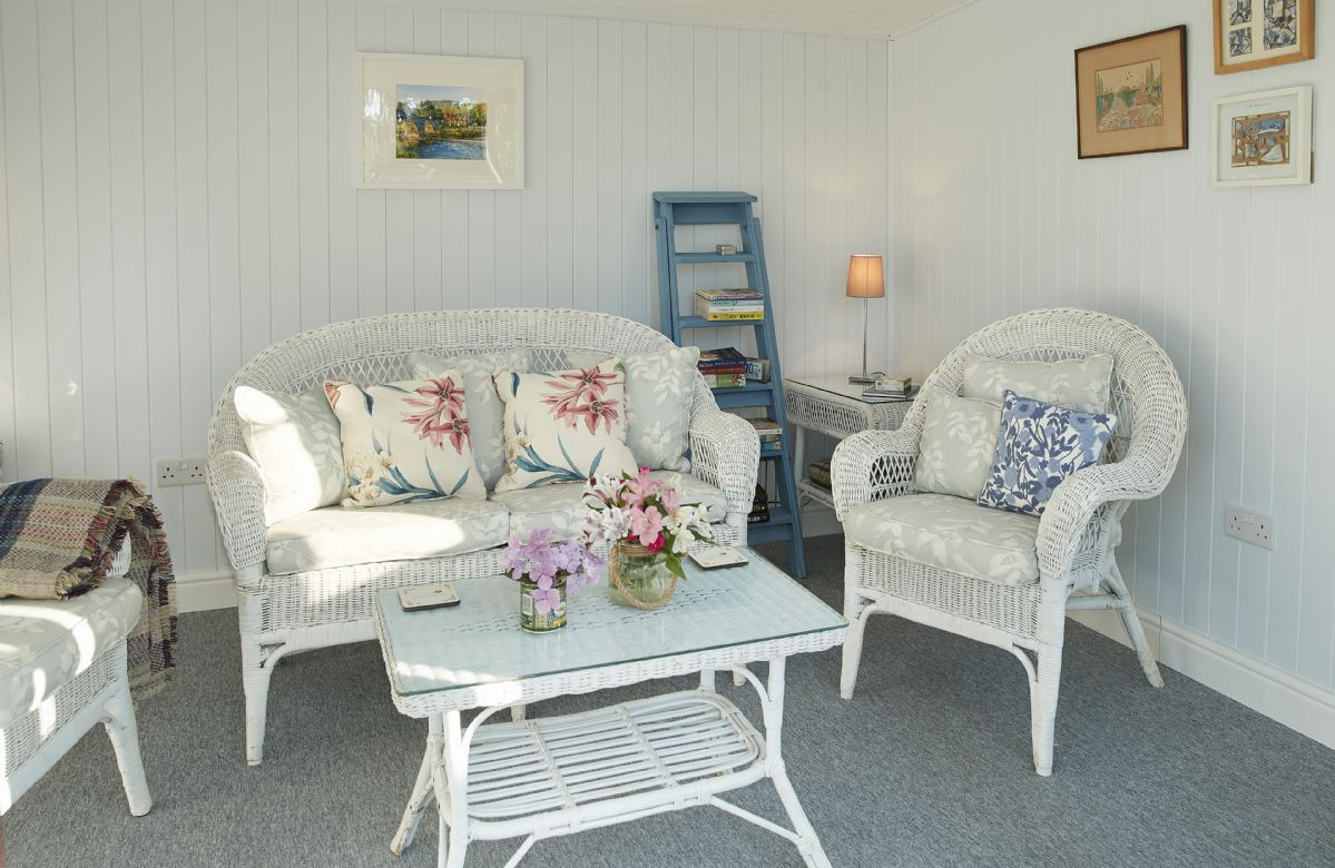 Comfortable furniture in the summer house