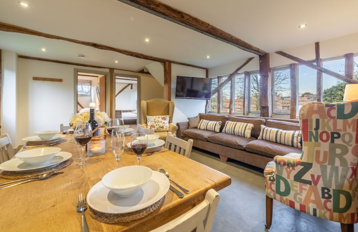 Ground Floor: Open plan living space with it's own character