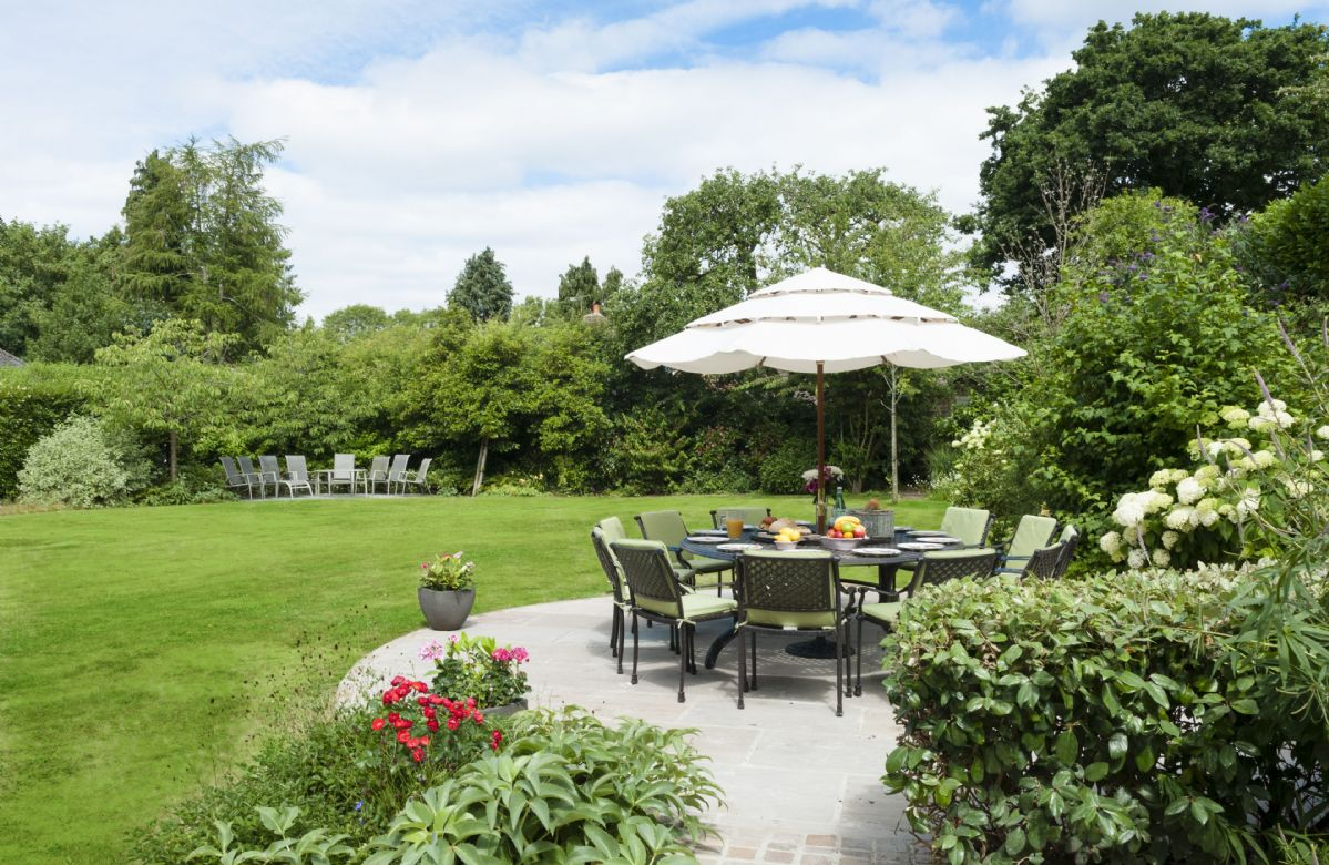 Further seating available in the large enclosed garden