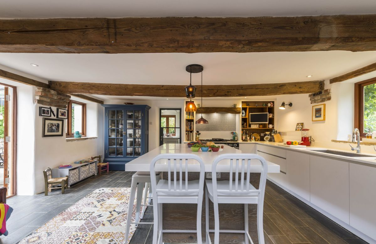 Ground floor: Fully equipped kitchen with breakfast bar