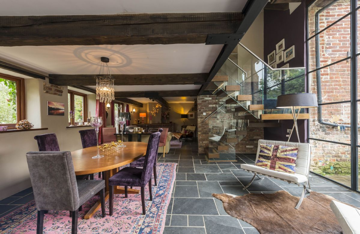 Ground floor: The dining room extends to seat ten guests