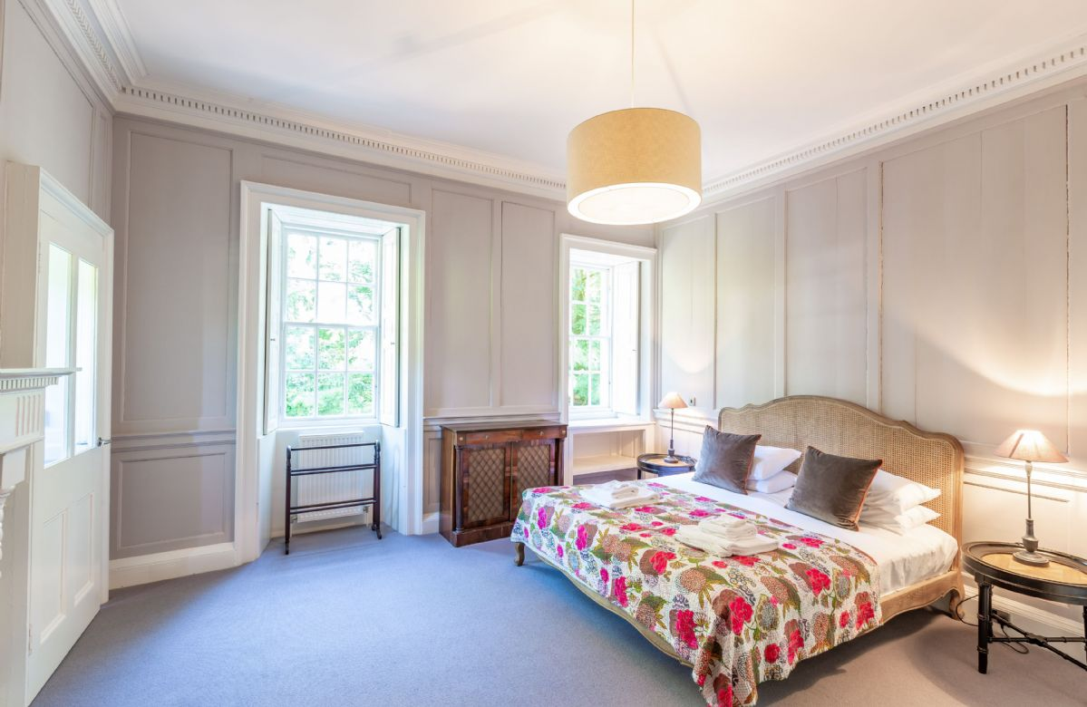 First floor: Bedroom three with a 6' super king size bed