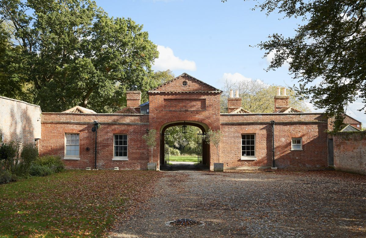 Stewards House occupies the right hand-side of this former gate house